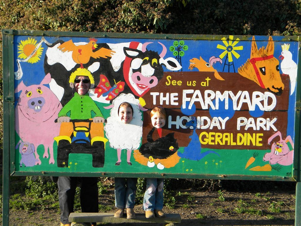 Geraldine farmyard was our favourite cmping ground in the South Island