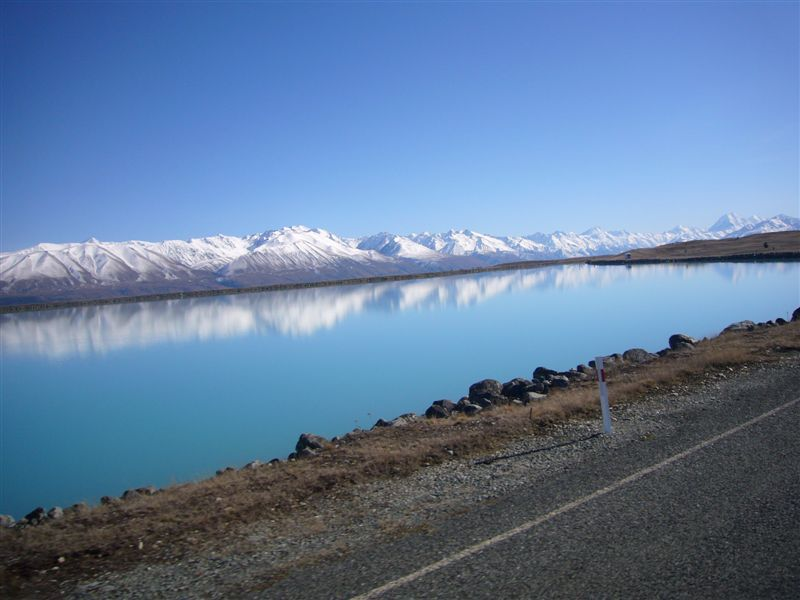 Salmon farm drive near lake tekapo