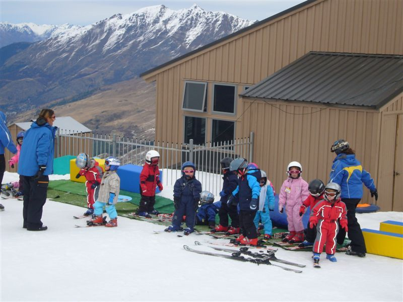 The Creche had their own ski area and the 4 year olds and under loved it