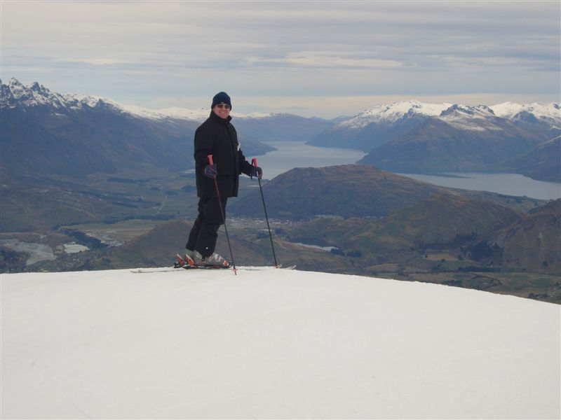 It makes you feel like King of the mountain - the slopes were very forgiving