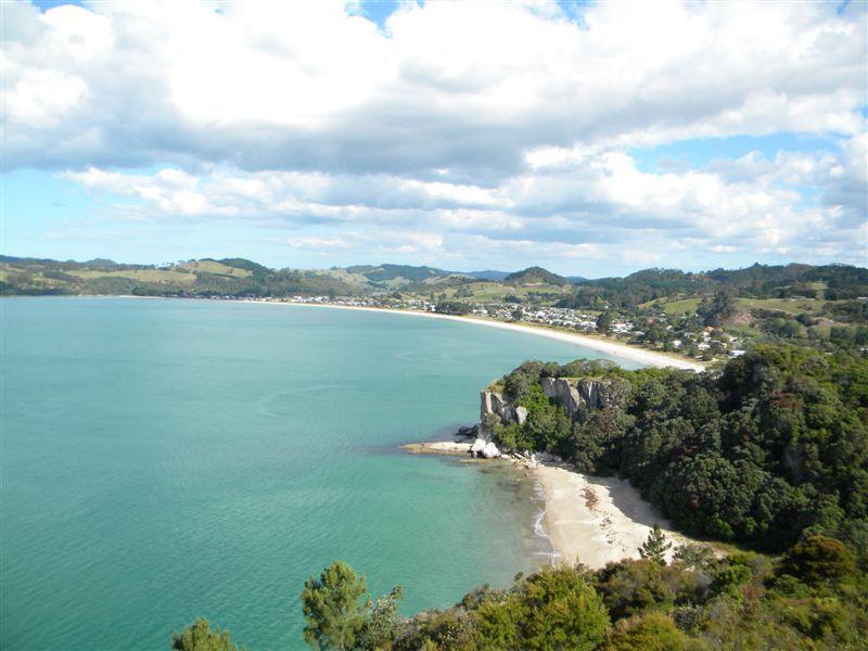 Views over Cooks Beach
