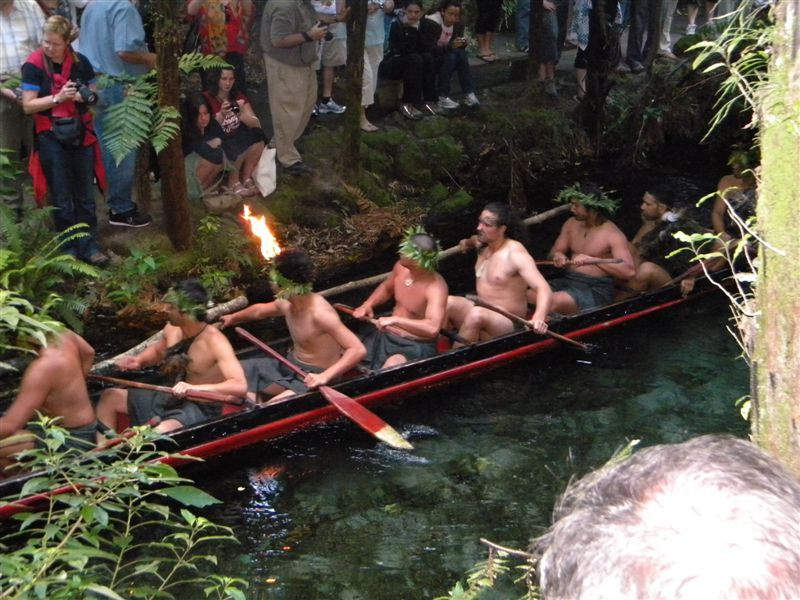 Warriors arriving in the Waka